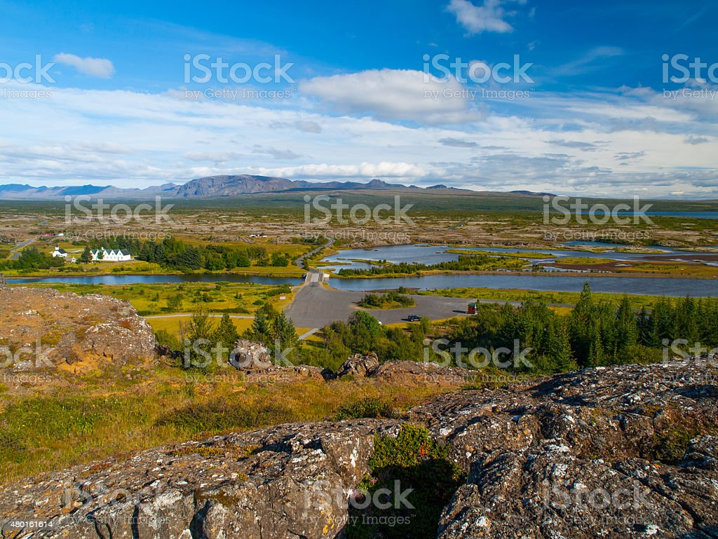 Thingvellir lakes stock photo