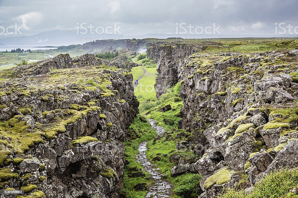 Thingvellir National Park Iceland stock photo