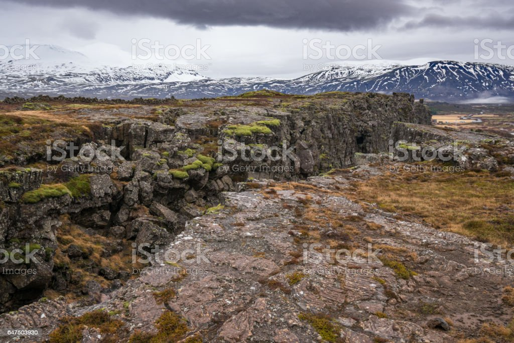 Thingvellir National Park, Iceland stock photo