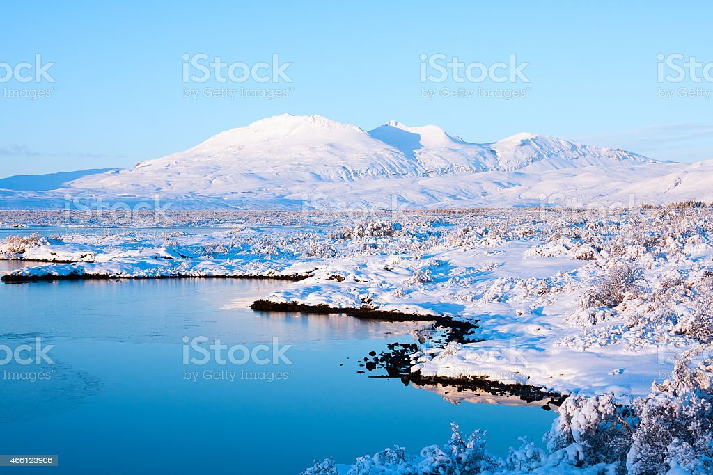 Thingvellir National Park in winter stock photo