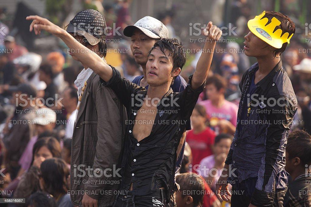 Thingyan Water Festival stock photo