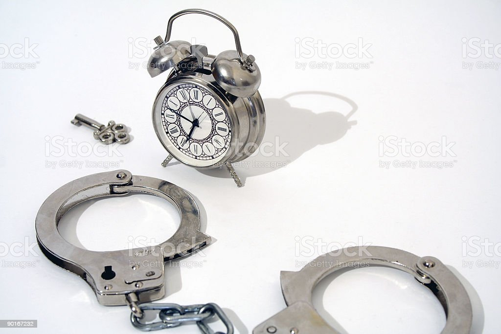 Think about spending your time behind bars.. royalty-free stock photo