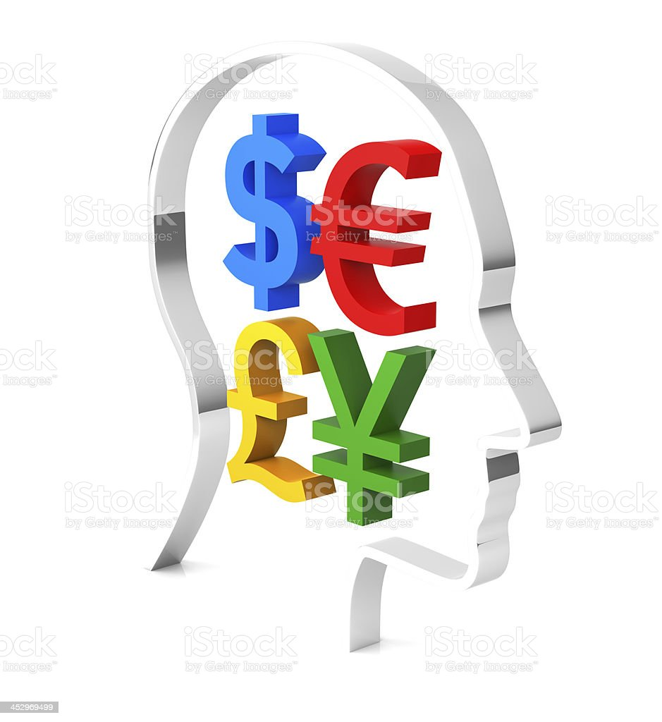 Think about the money royalty-free stock photo