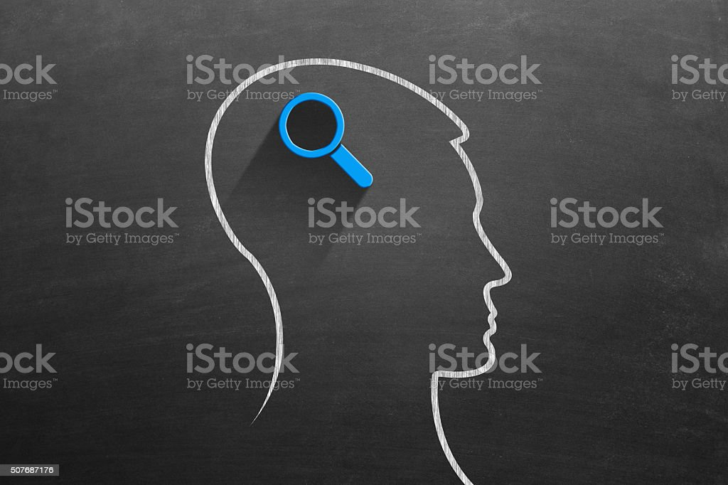 Think and analysis stock photo