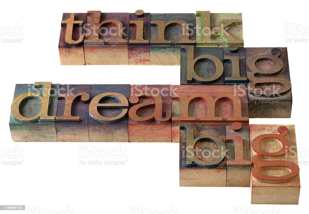 think and dream big royalty-free stock photo