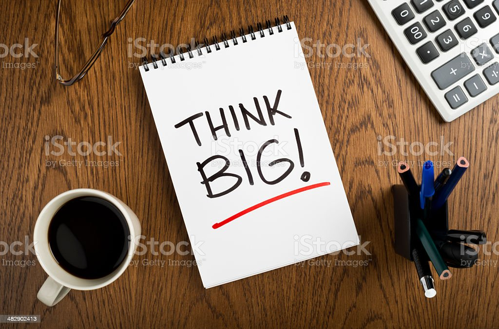 think big royalty-free stock photo