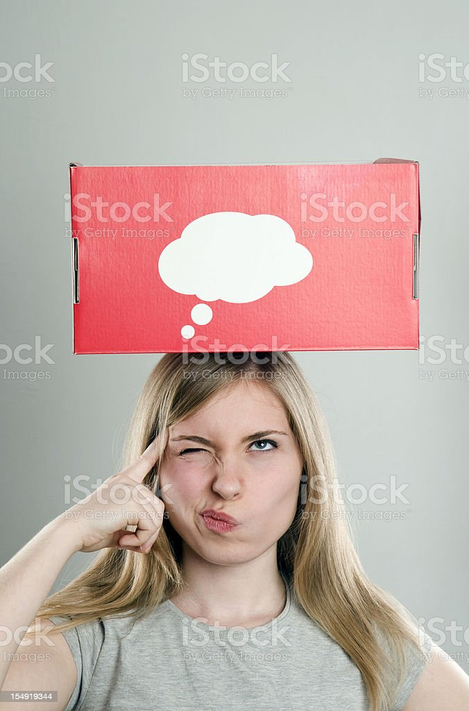 think box royalty-free stock photo