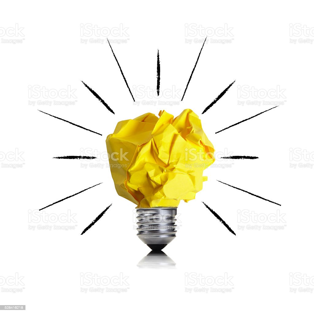 Think creative stock photo