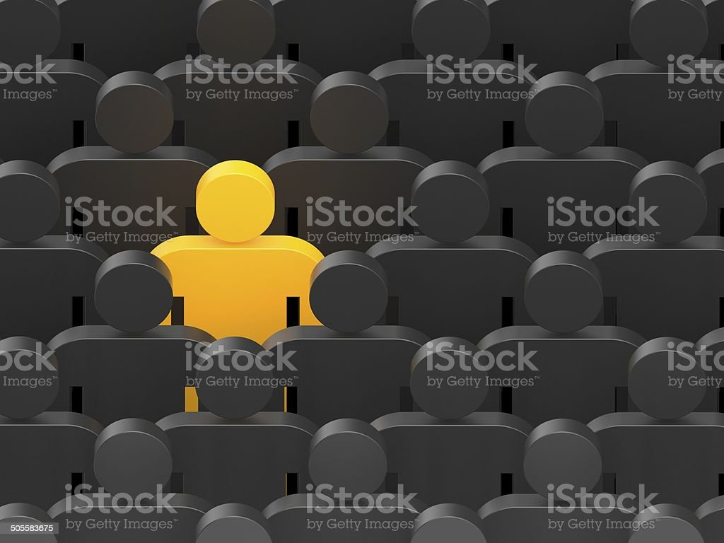 Think different royalty-free stock photo