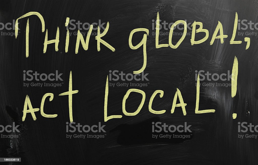 think global act local marketing business concept royalty-free stock photo