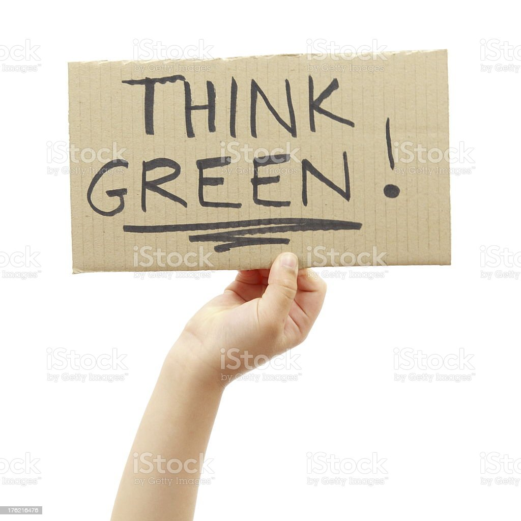 Think Green royalty-free stock photo