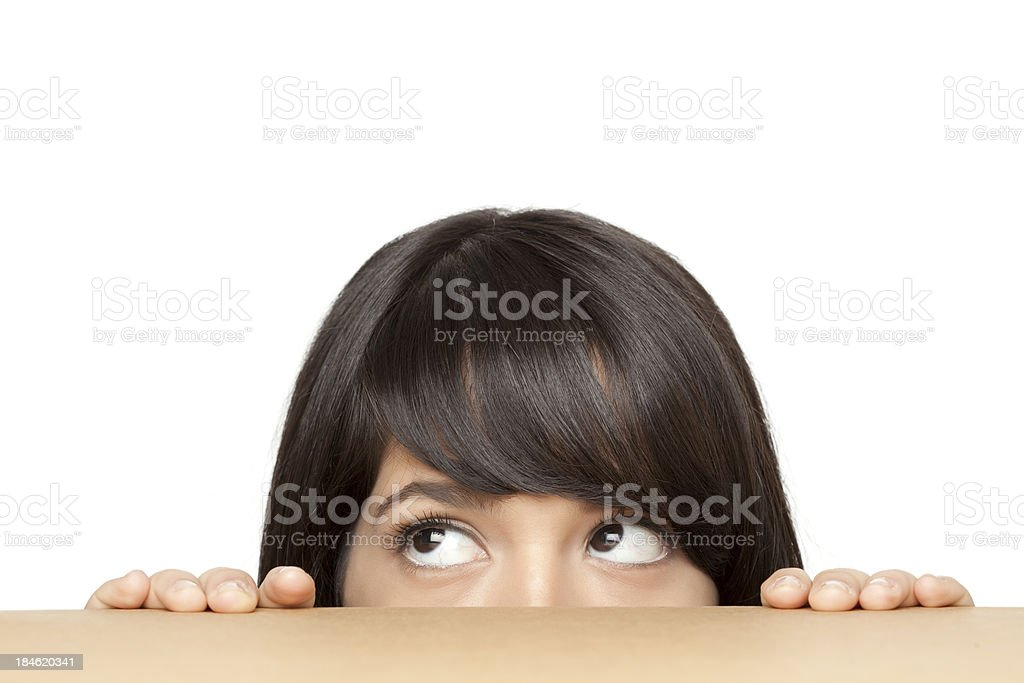 Think hiding . stock photo