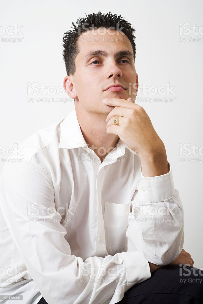 think it over stock photo