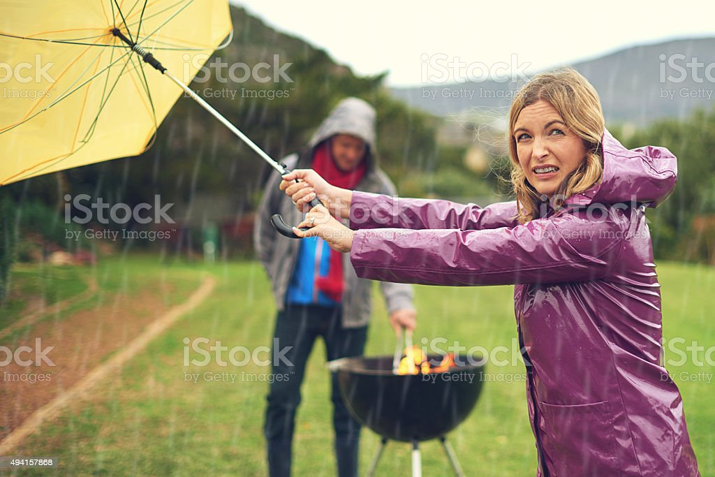 I think it's clearing up! stock photo