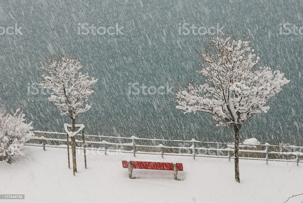 I think it's snowing stock photo