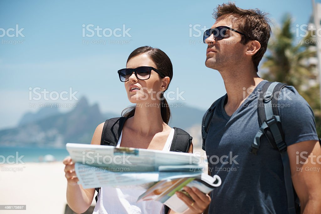 I think it's time to ask for directions stock photo