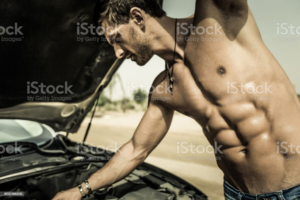 I think my car needs an oil change. stock photo