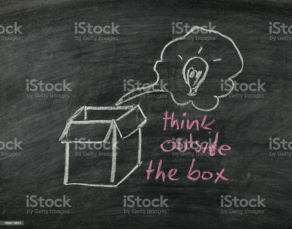 'think outside the box' royalty-free stock photo