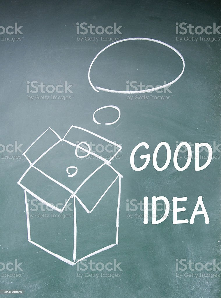 think outside the box symbol royalty-free stock photo
