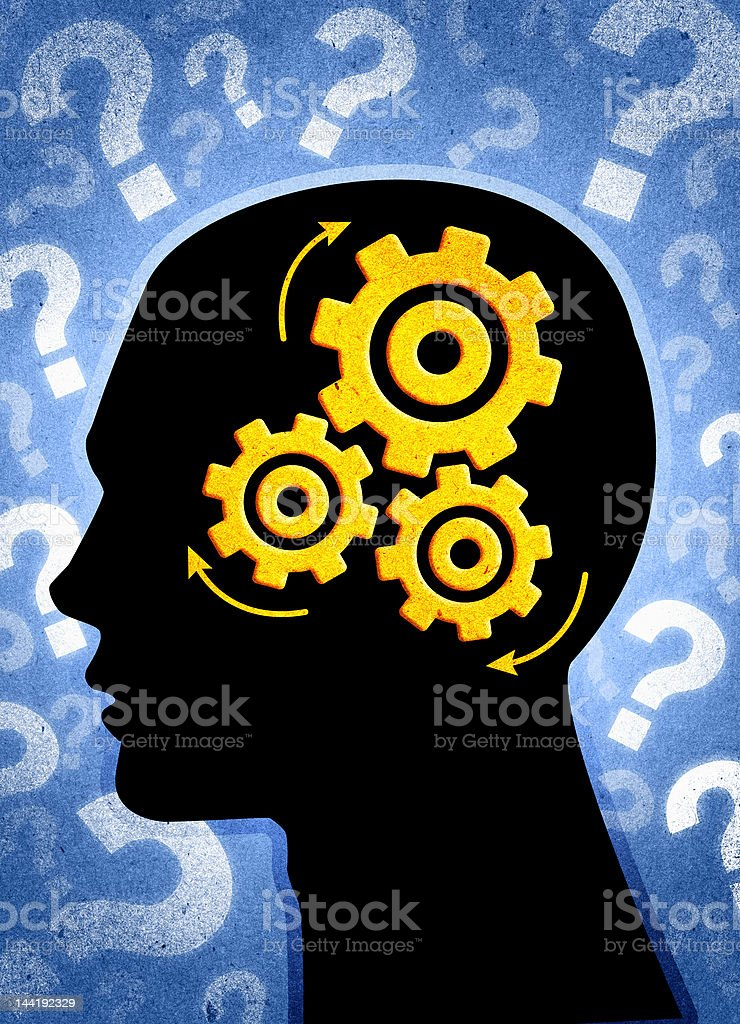 Think! (Series 2 of 3) royalty-free stock photo