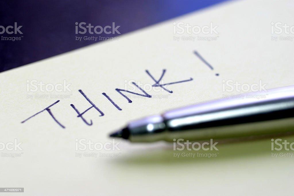 Think! royalty-free stock photo