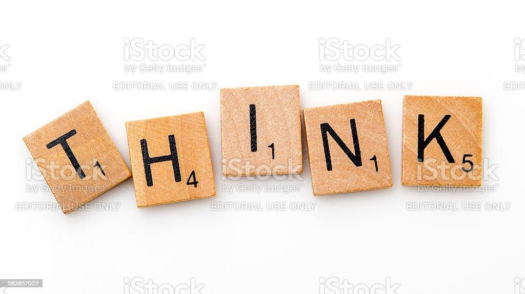 Think stock photo