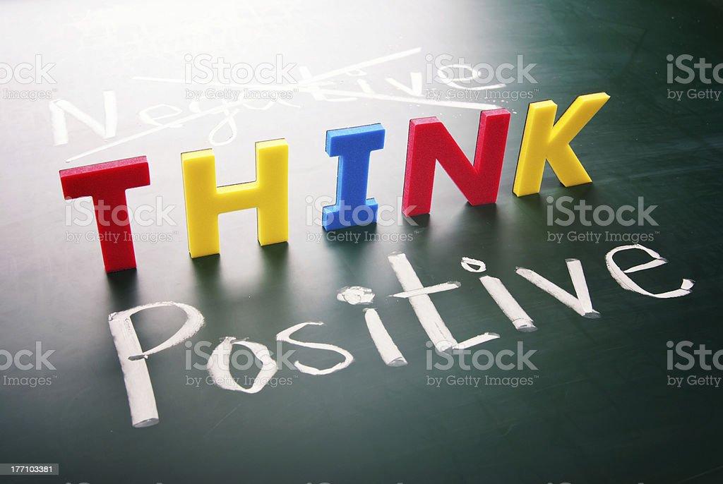 Think positive, do not negative stock photo