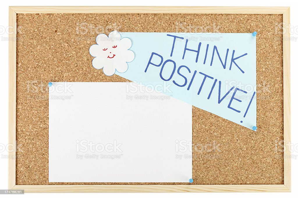 Think positive royalty-free stock photo
