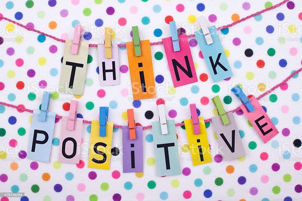 Think Positive stock photo