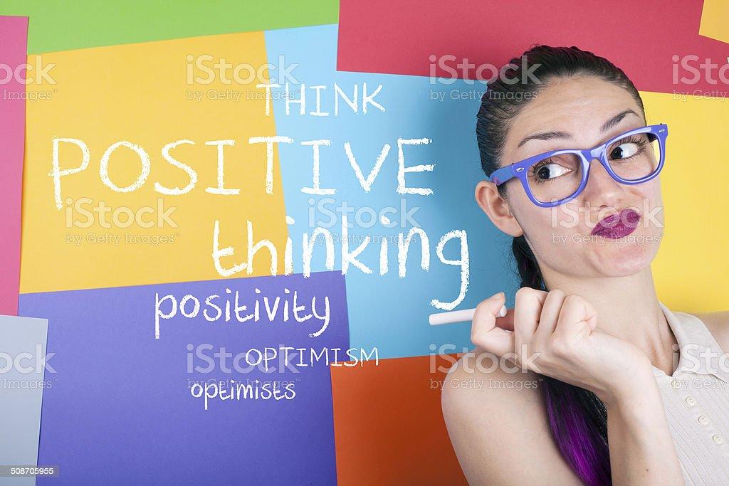 Think Positive stock photo
