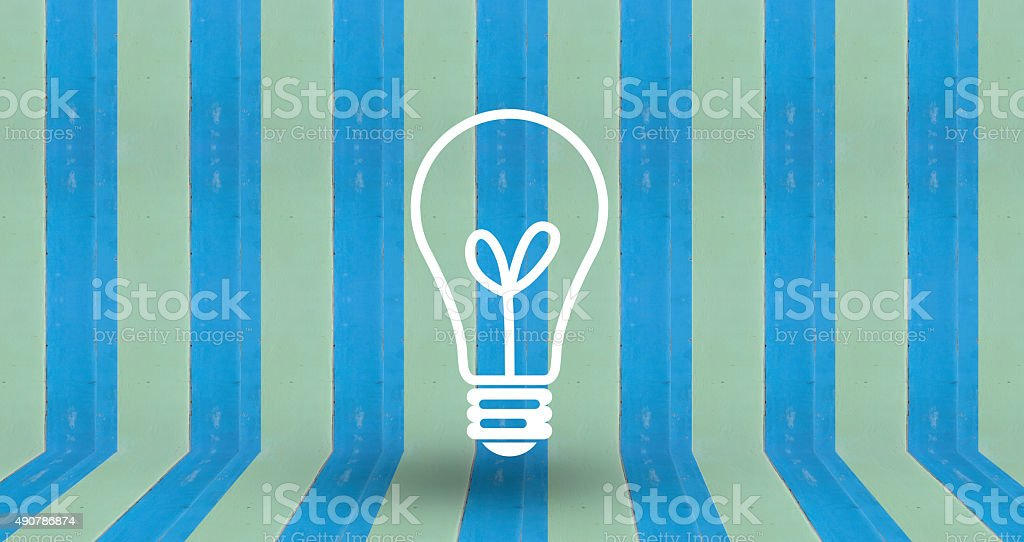 think sign on blue pastel wall wood royalty-free stock photo