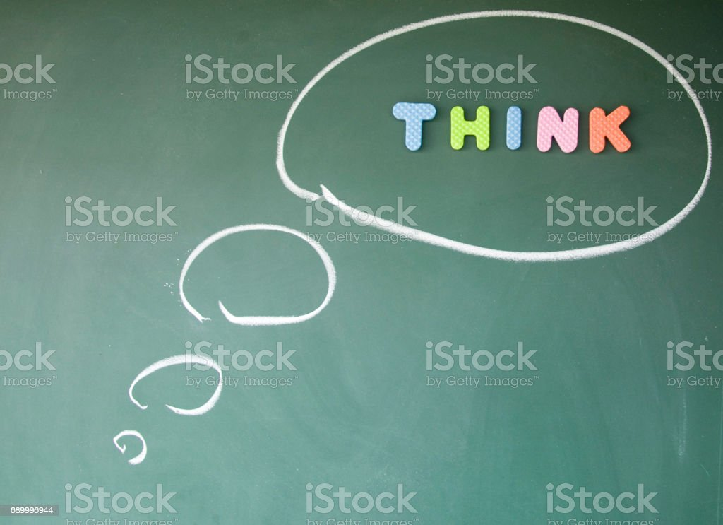 think sign stock photo