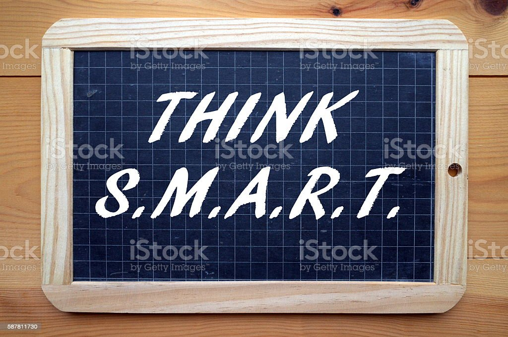 Think SMART for Business Success stock photo