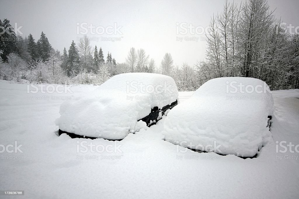 I Think There Are Cars Somewhere Under That Snow stock photo