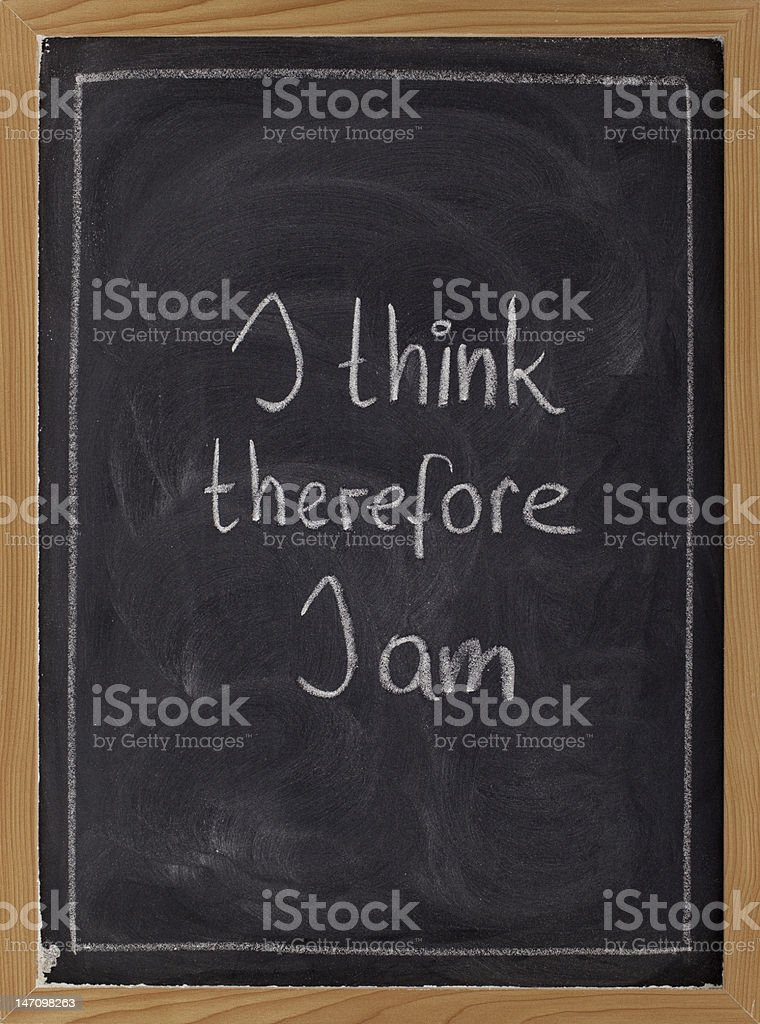 I think, therefore ... - philosophical statement stock photo