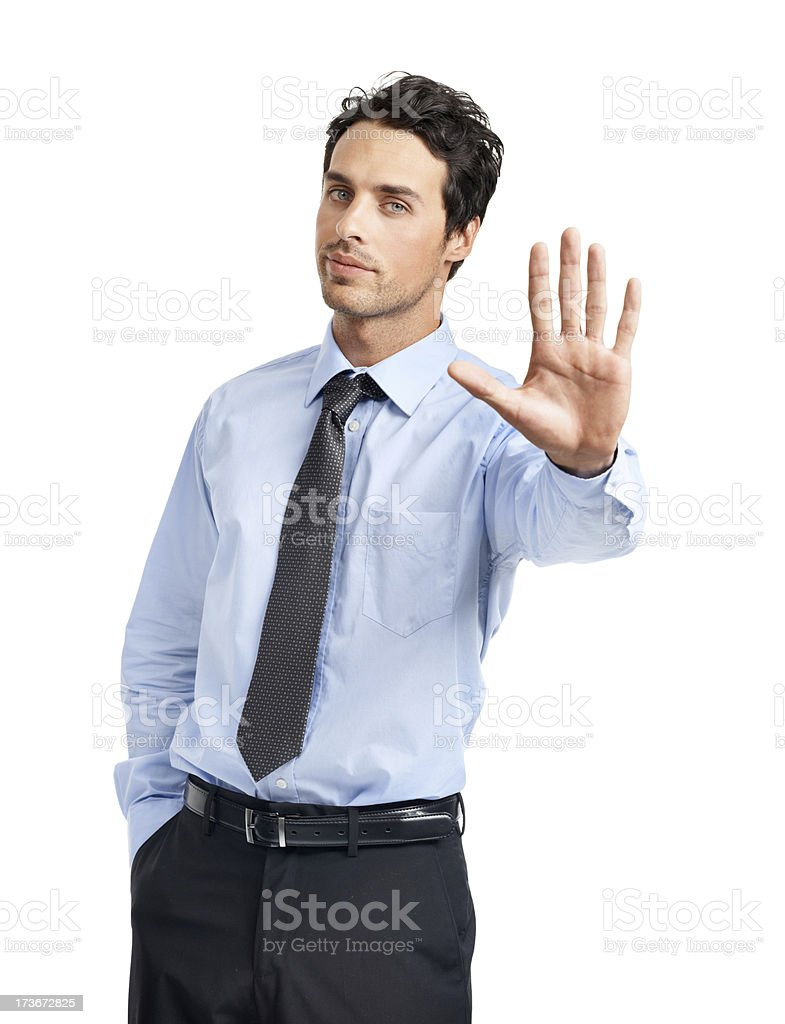 I think you need to stop right there... royalty-free stock photo