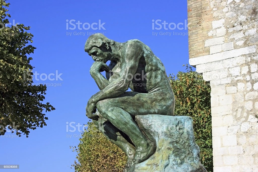 Thinker original royalty-free stock photo