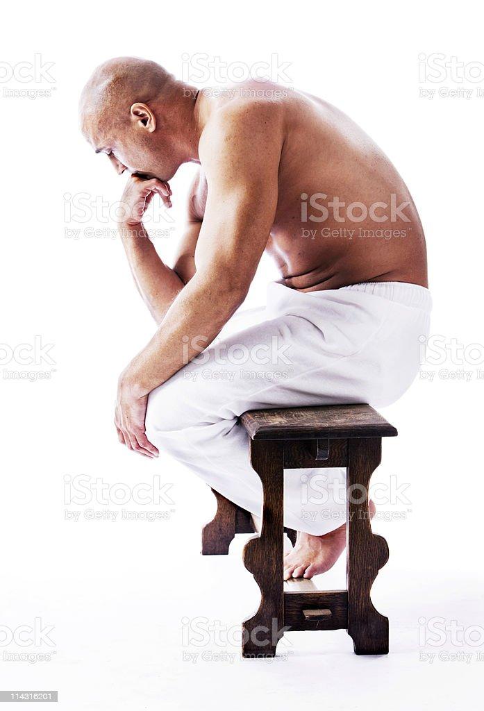 Thinker stock photo