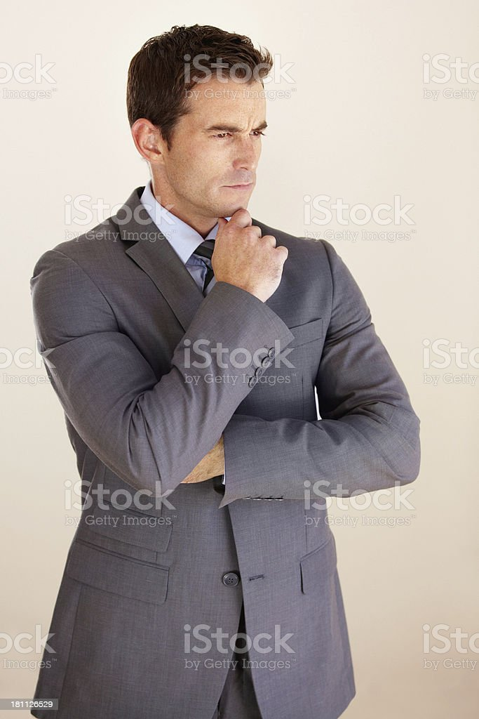 Thinking about corporate strategy royalty-free stock photo
