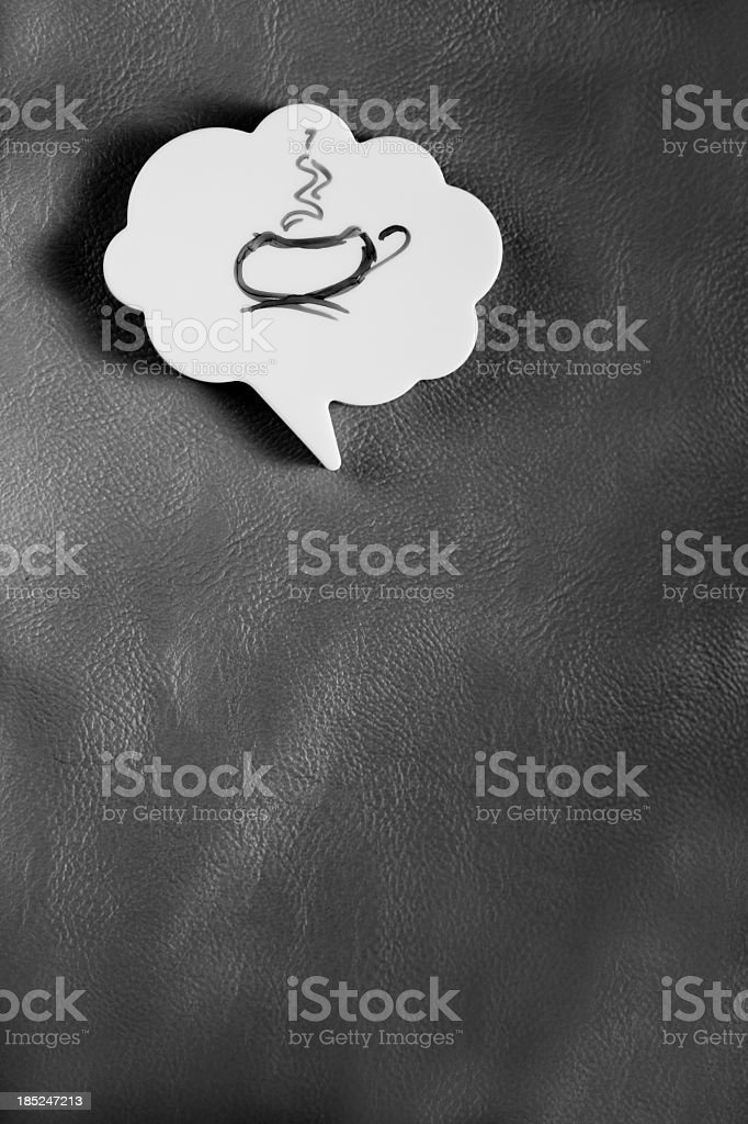 Thinking About Cup Of Coffee Or Tea royalty-free stock photo