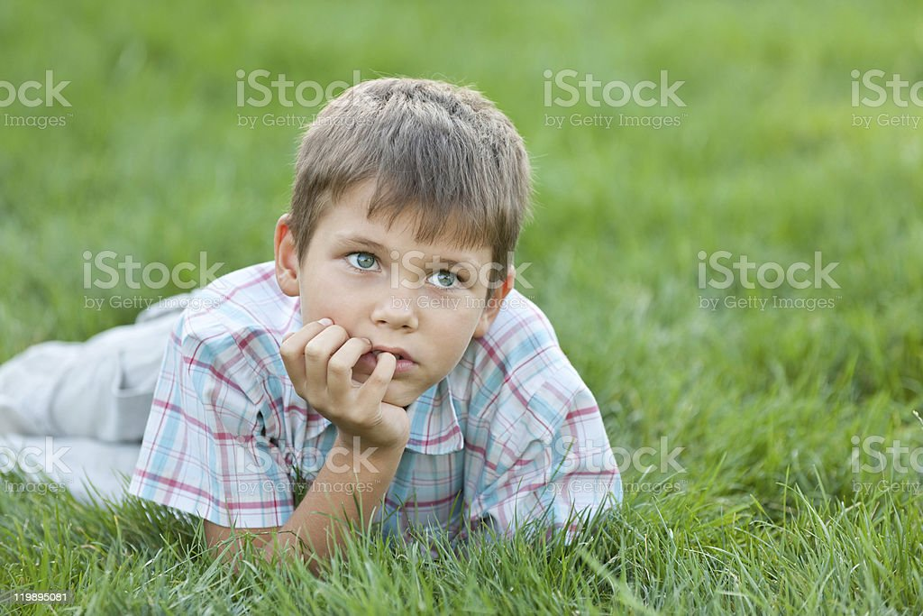 Thinking about future royalty-free stock photo