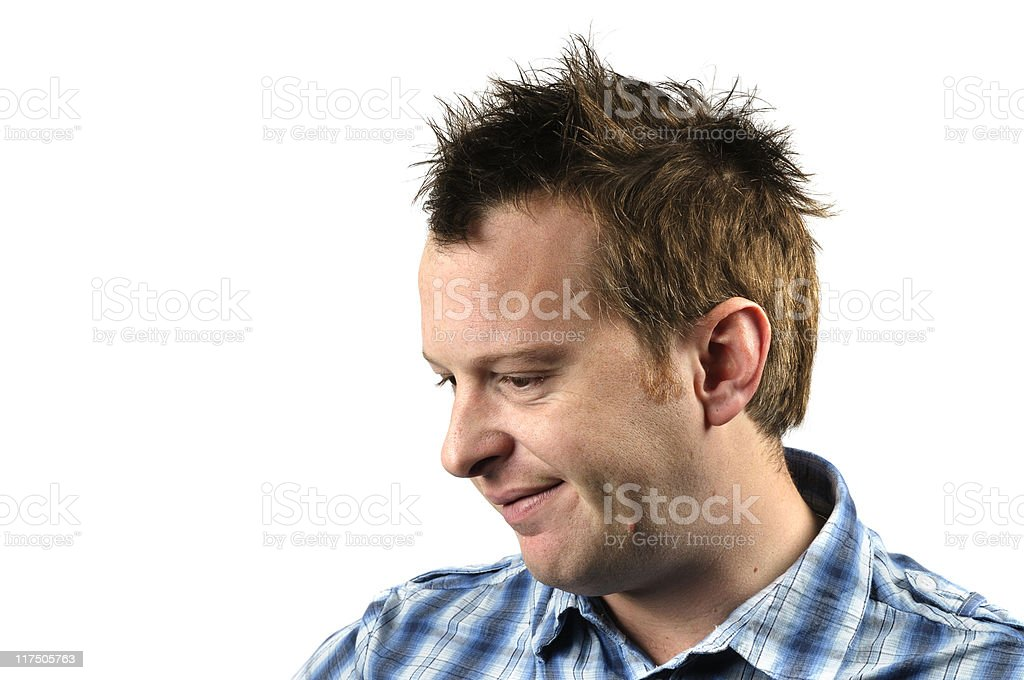 Thinking about it stock photo