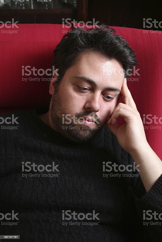 Thinking about life royalty-free stock photo