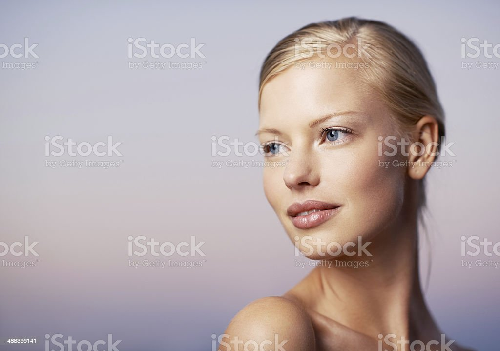 Thinking about new beauty techniques stock photo