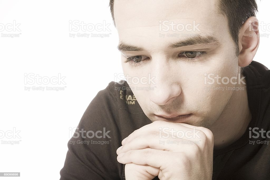 thinking about royalty-free stock photo