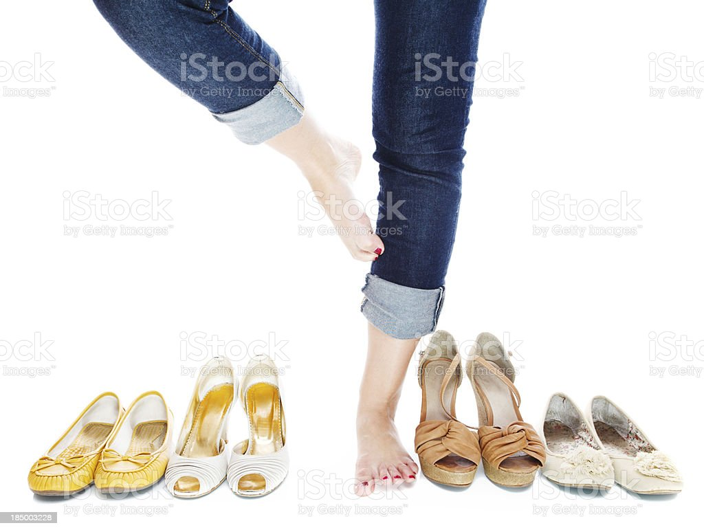 Thinking about shoes royalty-free stock photo