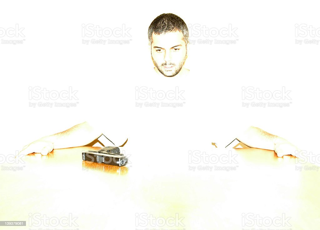 Thinking about suicide royalty-free stock photo