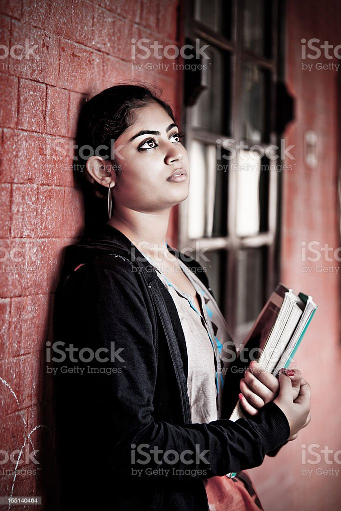 Thinking about the future royalty-free stock photo