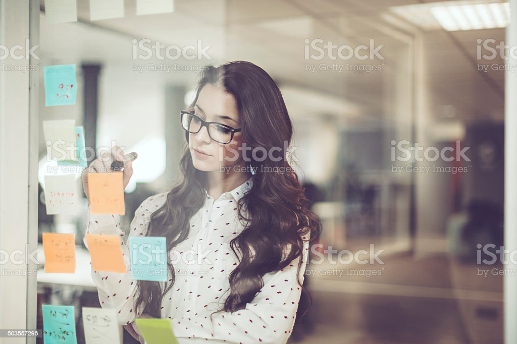 Thinking about the next task stock photo