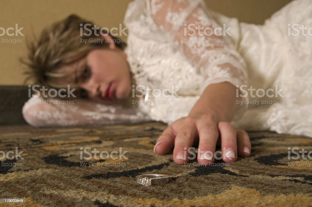 Thinking about the wedding royalty-free stock photo